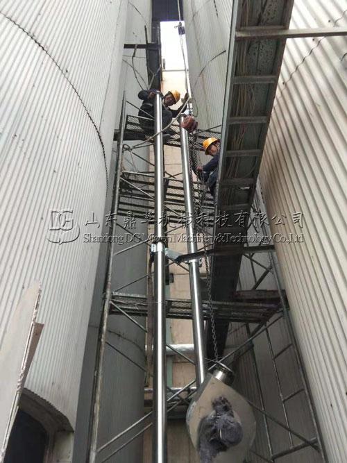 唐山客户定制的管链输送机安装现场