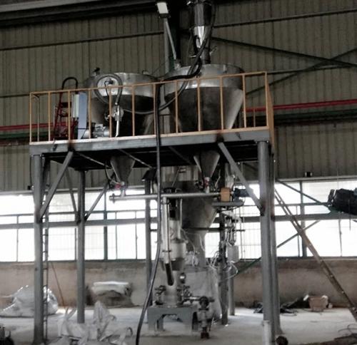 我公司为安徽客户制造的20立方气流粉碎机安装完工