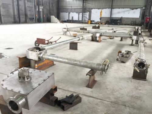 德州客户定做的不锈钢管链输送机完工