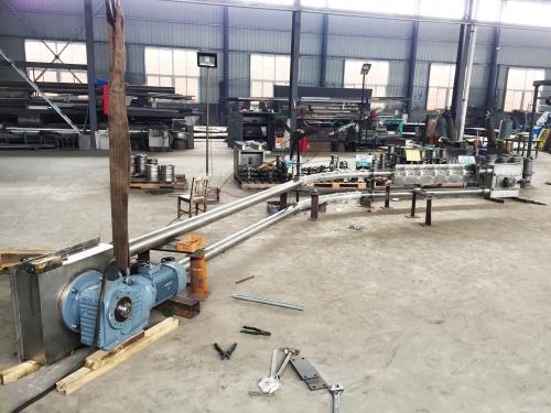 宁波客户订制的管链输送机安装完工