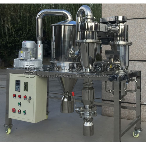 广州客户从我公司定做的实验室气流粉碎机