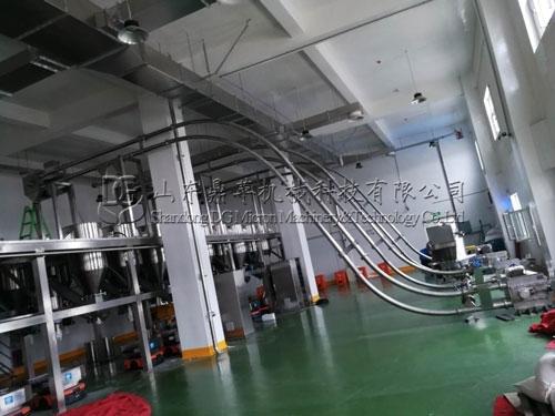 内蒙古客户GL108管链输送机安装现场